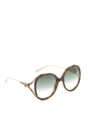 Gucci: sunglasses - Brown acetate and metal sunglasses