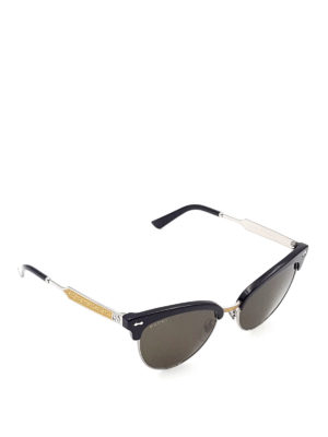 Gucci: sunglasses - Carved temples sunglasses