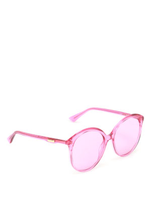 Gucci: sunglasses - Fuchsia oversized sunglasses