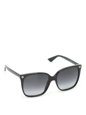 Gucci: sunglasses - GG detail square sunglasses