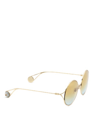 Gucci: sunglasses - Gold-tone faded lenses sunglasses