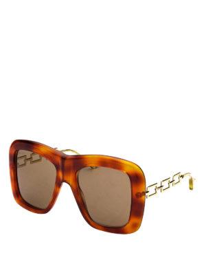 164aa782f2 GUCCI  occhiali da sole - Occhiali da sole con aste dorate