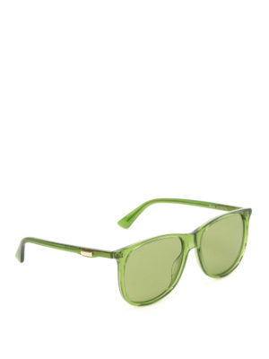 Gucci: sunglasses - Green square sunglasses