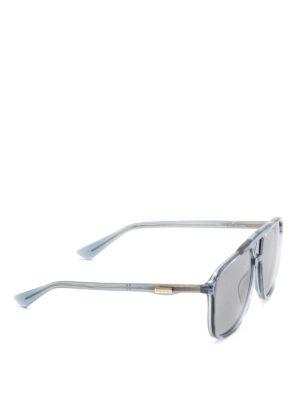 Gucci: sunglasses - Grey squared sunglasses