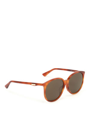 Gucci: sunglasses - Havana sunglasses