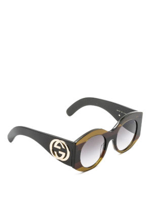 Gucci: sunglasses - Interlocking G round sunglasses