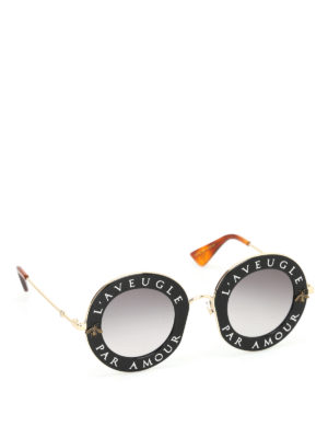 Gucci: sunglasses - L'Aveugle Par Amour sunglasses