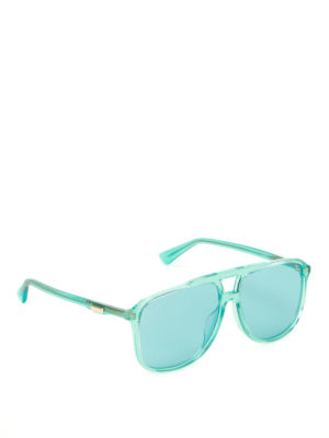 Gucci: sunglasses - Light blue square sunglasses