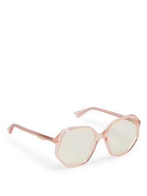 Gucci: sunglasses - Light orange geometric sunglasses