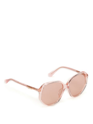Gucci: sunglasses - Light orange geometric sunglasses