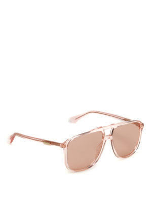 Gucci: sunglasses - Light orange square sunglasses