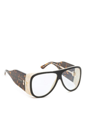 Gucci: sunglasses - Maxi mask sunglasses