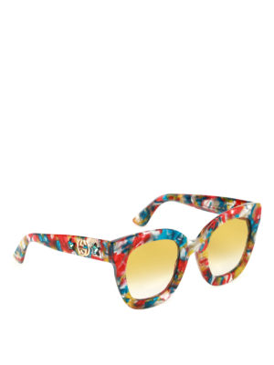Gucci: sunglasses - Multicolour acetate sunglasses