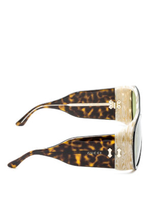 Gucci: sunglasses online - Aviator broad temple sunglasses
