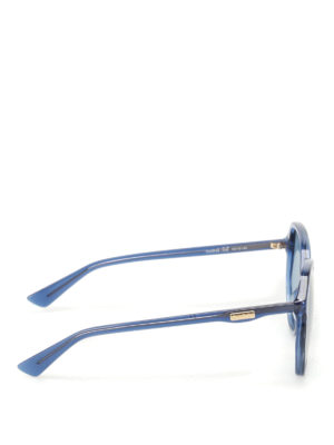 Gucci: sunglasses online - Blue geometric sunglasses