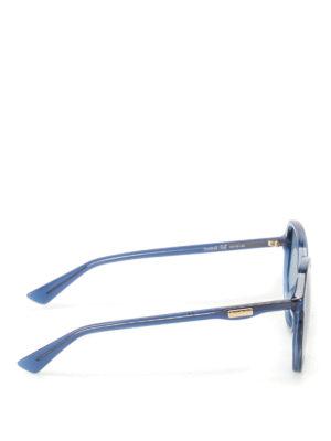 Gucci: sunglasses online - Blue geometric sunglasses