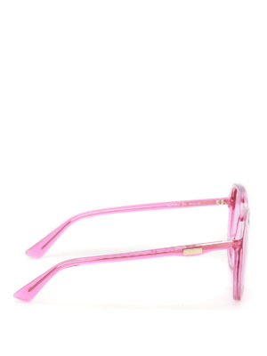 Gucci: sunglasses online - Fuchsia geometric sunglasses