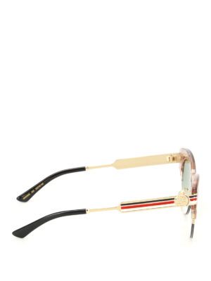 Gucci: sunglasses online - Glitter nude cat eye sunglasses