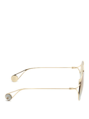 Gucci: sunglasses online - Gold-tone faded lenses sunglasses