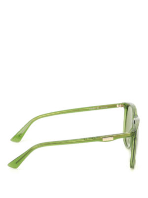 Gucci: sunglasses online - Green square sunglasses