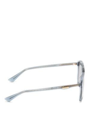Gucci: sunglasses online - Grey squared sunglasses