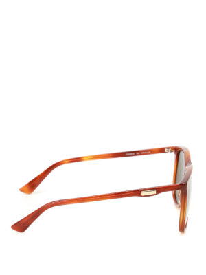 Gucci: sunglasses online - Havana square sunglasses
