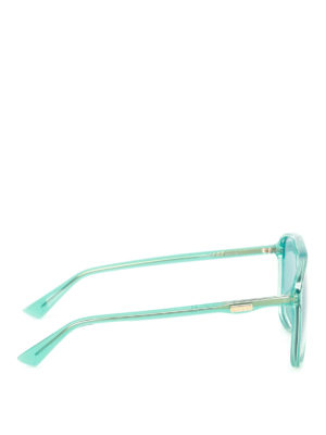 Gucci: sunglasses online - Light blue square sunglasses