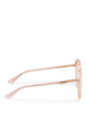 Gucci: sunglasses online - Light orange geometric sunglasses