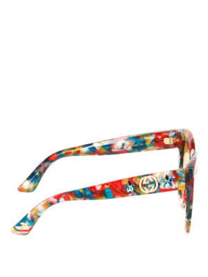 Gucci: sunglasses online - Multicolour acetate sunglasses