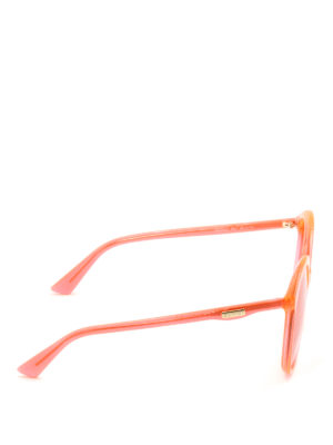 Gucci: sunglasses online - Orange oversize round sunglasses