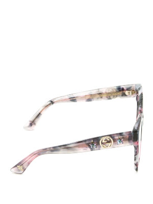 Gucci: sunglasses online - Pink acetate star GG sunglasses
