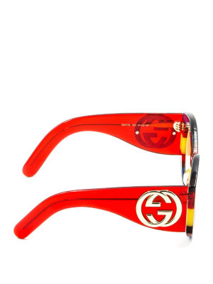 Gucci: sunglasses online - Rainbow acetate sunglasses