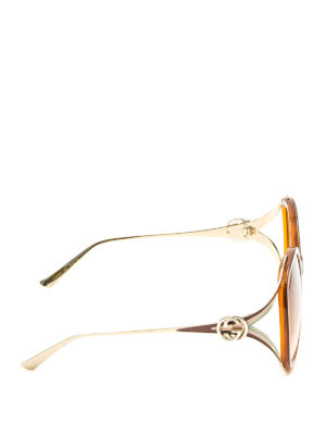 Gucci: sunglasses online - Round acetate and metal sunglasses