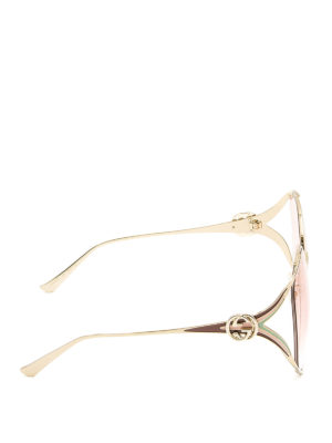 Gucci: sunglasses online - Round slim metal frame sunglasses