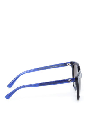 Gucci: sunglasses online - Shimmering blue acetate sunglasses