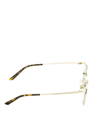 Gucci: sunglasses online - Slim frame round sunglasses