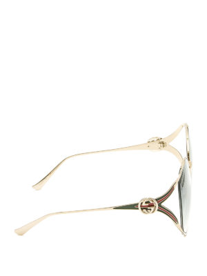 Gucci: sunglasses online - Slim metal frame round sunglasses