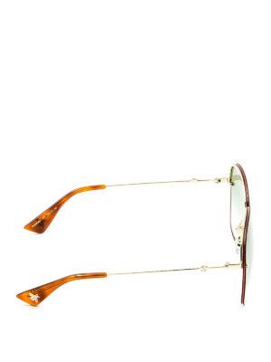 Gucci: sunglasses online - Square glitter frame sunglasses