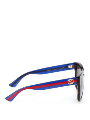 Gucci: sunglasses online - Sunglasses with contrasting temples
