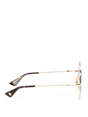 Gucci: sunglasses online - Sylvie Web metal frame sunglasses