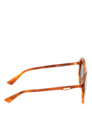 Gucci: sunglasses online - Tortoise geometric sunglasses