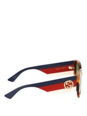 Gucci: sunglasses online - Tortoise squared sunglasses