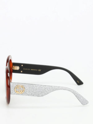 Gucci: sunglasses online - Tortoiseshell rounded sunglasses