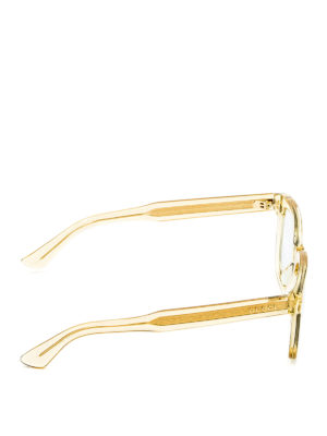 Gucci: sunglasses online - Transparent acetate square glasses