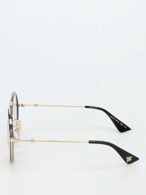Gucci: sunglasses online - Two-tone rounded sunglasses
