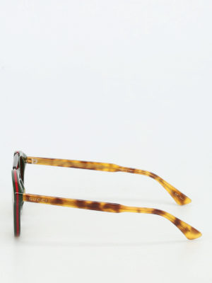 Gucci: sunglasses online - Web acetate rounded sunglasses