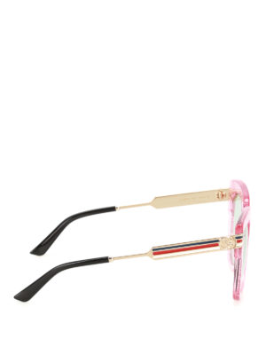 Gucci: sunglasses online - Web detail glitter pink sunglasses