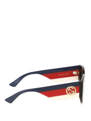 Gucci: sunglasses online - Web temples tortoise sunglasses