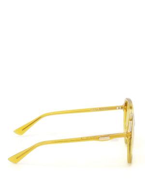 Gucci: sunglasses online - Yellow geometric sunglasses