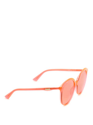 Gucci: sunglasses - Orange oversize round sunglasses